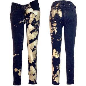 J CREW tie dye maternity skinny jeans - size 27